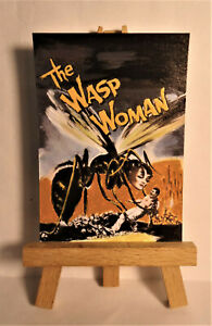 The Wasp Woman Movie Poster 1959 ACEO Original PAINTING by Ray Dicken