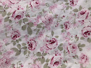 Simply Shabby Chic Rachel Ashwell Rosalie Pink Rose Floral Curtain Panel 84 x 54