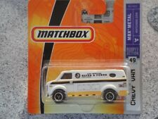 "MATCHBOX 2008 #49/75 CHEVY VAN ""Water and Power"" White Chevrolet"