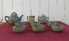 rare 6 tasses à café ou a the crémier sucrier verseuse en céramique G Metenier