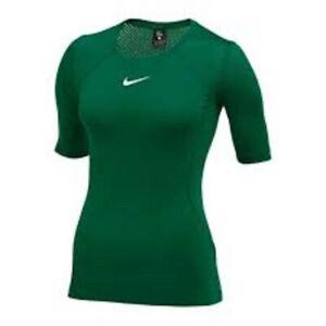 NWT Nike Pro Hypercool SS Shirt Training Top Green Mesh Back Women's XS