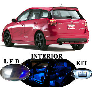 LED Package - Interior + License Plate + Vanity for Toyota Matrix  (6 pieces)