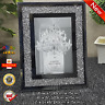 New Mirror and Crushed Crystal Picture Photo Frame 4x6 8x6 2x(4x6)