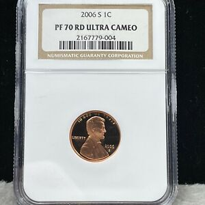 2006-S PROOF LINCOLN PENNY NGC PF 70 RD ULTRA CAMEO (004)