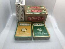 Rolling Rock Beer Custom Playing Cards 2 Sealed Decks Open Box See Photos Rare