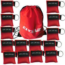 Elysaid 100 Pcs/pack CPR Mask Keychain with Cpr Face Shield CPR Life Key For CPR