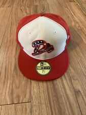 July 4th Rare Danville Braves Cap Hat Size 7 3/4 MiLB Made In USA New Era 5950