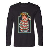 Snake Hugs Printed Cotton Long Sleeve Men's Crew Neck Funny Casual T-Shirt Tops