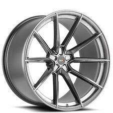 4ea 22x9/22x12 Staggered Savini Wheels SV-F4 Gloss Graphite Rims (S6)(Fits: 2011 Kia)