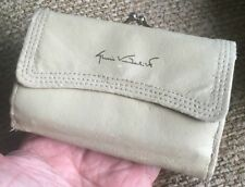 Vintage Gloria Vanderbilt Creme Leather Clutch Wallet Style V6092
