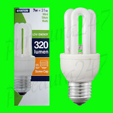 6x 7W (=31W) Power Saving CFL Mini Stick Bulb ES E27 UK STOCK. SUPER SAVER DEAL