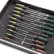ERNST 6011M Black 20 Tool Screwdriver Rail Organizer Set with Magnetic Tape