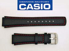 CASIO EDIFICE EFA120L WATCH BAND STRAP BLACK17mm Leather EFA-120L WITH 2 PINS