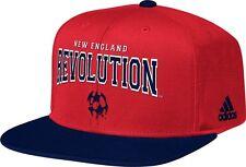 NEW ENGLAND REVOLUTION RED & NAVY ADIDAS SNAPBACK FLAT BRIM HAT NEW & LICENSED