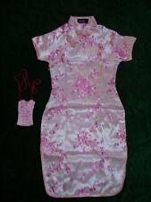 New Girls Pink Chinese/Oriental Dress 10-11 Y + Purse