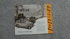 1938 AUSTIN TWELVE ASCOT SERIES MOTOR CARS SALES BROCHURE. ORIGINAL ITEM