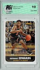 Anthony Edwards 2020 SI for Kids #907 1st Rookie Card Ever Made Card PGI 10