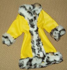 Vintage Vinyl Coat W/Faux Fur Trim For Barbies Great Coat#1459 From1970 As Shown