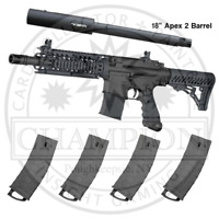 Tippmann TMC Marker Package With Apex2 Barrel + 4 Extra Magazines Combo Pack
