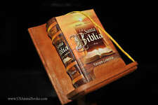 very nice New Santa Biblia w/pedestal Miniature Book Reina Valera full version