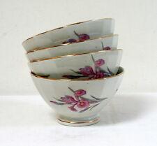 4 bols à déjeuner anciens motif iris