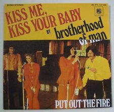 "BROTHERHOOD OF MAN ""Kiss me kiss your baby""  SP 7"" 45T. FRANCE 1975 NEAR MINT"