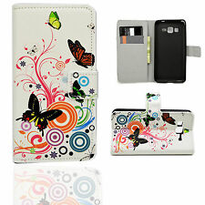 Side ID Leather Pocket Cover Case Stand Pouch For Samsung Galaxy Mobile Phone