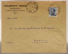 POSTA MILITARE 15 BUSTA DA COSTANTINOPOLI francobollo 25 c. 11.9.1919 #XP341L