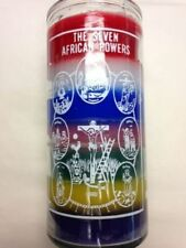AFRICAN CANDLE 7 POWERS PACK OF 6 ,7 days COLOR UNSCENTED 7 POTENCIAS africanas