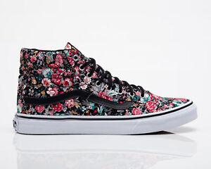 Vans SK8-Hi Slim Women's Black Multi-Color Lifestyle Lifestyle Sneakers Shoes