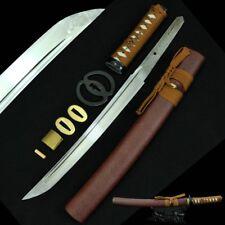 Samurai Tanto Sword Musashi Tsuba 1060 High Carbon Steel Full Tang blade #406