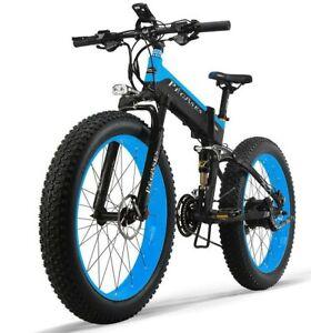 Fat tire ebike 1000w Motor 48v Samsung Battery M.S. 40 Mph range 45-60 Miles