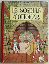 Tintin Le Sceptre d'Ottokar B7bis 1952 édition Casterman