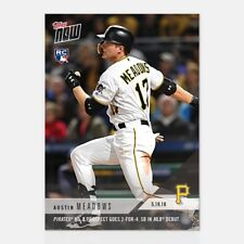 2018 TOPPS NOW ~ Austin Meadows ~ Pirates #2 Prospect Goes 2-for-4 in MLB Debut