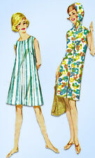 1960s Vtg Butterick Sewing Pattern 2678 Easy Misses Beach Dress or Cover-Up 34B