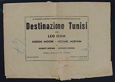 COPRIBUSTA, DESTINAZIONE TUNISI Steel Bayonet LEO GENN, CARRERAS WAR POSTER