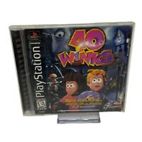 40 Winks (Sony PlayStation 1, 1999) PS1 Black Label Complete w/Manual
