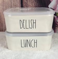 Ceramic Bowls Delish/ Lunch