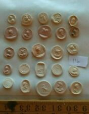 Quantity of Grand Tour Style Wax Seal Impressions  Classical   Cast s    #116