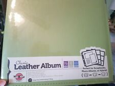 """We-R-Memory Keepers 12x12"""" Classic Leather Ring Album, Kiwi #660916"""