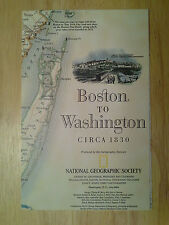 National Geographic MAP of Boston to Washington July 1994