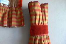 New listing Dransfield & Ross lot 2 napkin or flatware holders silk/velvet rust/bronze
