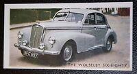Wolseley Six-Eighty  Original Vintage 1950's Coloured Card   VGC