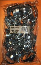 "50 Pc Hose Clamps 1-1/4"" 2-1/4"" Radiator Heater Adjustable Band Steel Worm Clip"