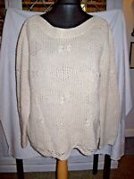 Lady's Long Sleeved,Chunky Jumper by Marks & Spencer 'INDIGO' Size 16- CREAM