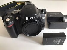 Nikon D60 10.2 MP Digital SLR Camera - Black (Body only) Shutter count 5784