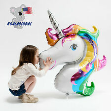 "Supershape Rainbow 33"" Unicorn Foil  Balloon Children Birthday Party Decorations"