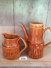 Vintage Sadler Brown Coffee Pot  with Matching Jug 1970's Retro