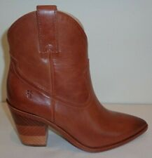 Frye Size 10 M FAYE CHEVRON SHORT Cognac Leather Booties Boots New Womens Shoes