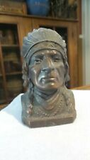 New ListingAntique Vintage Still Bank Indian Chief Souvenir of Ely, Minnesota